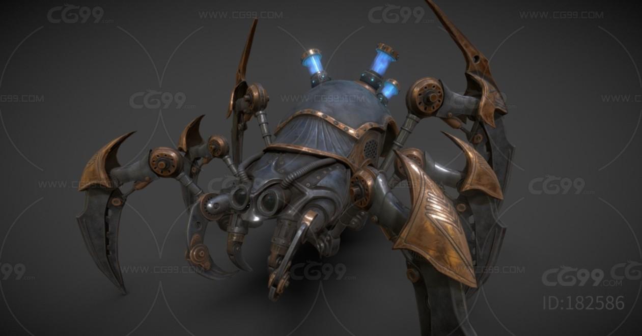 PBR次世代 机甲 仿生蜘蛛机器人  3D模型