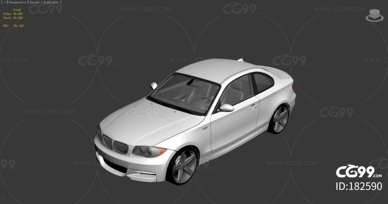BMW 1 E82 带内饰 贴图 FBX