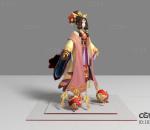 现代游戏角色 貂蝉美女 3d模型