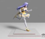 现代游戏角色 奔跑美女 3d模型