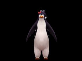 次时代女性站立的企鹅