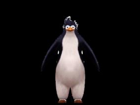 次时代男性站立的企鹅
