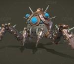 PBR次世代 机甲 蒸汽蜘蛛机器人  3D模型