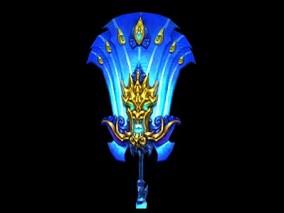 西幻 魔幻 北凉han刀行  蓝灵扇 3d模型