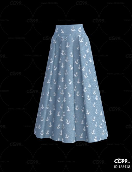 服装  长裙   半身裙