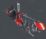 卡通 乐高 积木 像素 格子 飞艇 科幻 喷射机 宇宙飞船 3d模型