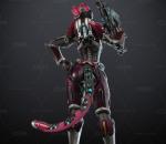 次时代PBR赛博未来YUI狙击手女战士CG(带绑定)(带动画)