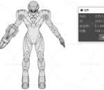 多种文件格式 科幻机器人 带绑定 未来战争机器 3dsmax fbx blender c4d