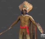 原始部落首领 原始人 野人 男性写实