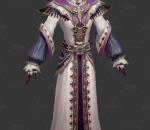 魔幻 精灵 牧师 网游 手绘 人物 角色 男牧师