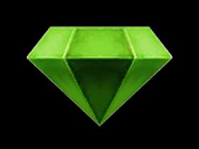 国风Q版绿色钻石