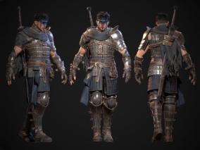 次时代PBR英雄雇佣兵战士角色CG模型