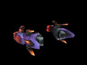 日韩 Q版 机械 科幻  炮弹机甲部件 3d模型