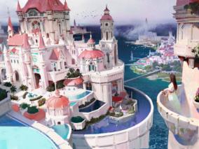 瑰丽的城堡建筑场景分享~很棒的原画手绘噢~