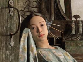 独处的~ 次时代、写实、古代美女、人物CG雕刻