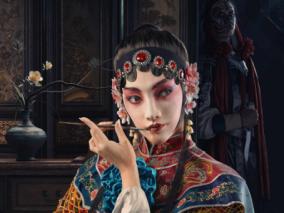 表演者和刺客~次时代 写实 CG雕刻 京剧