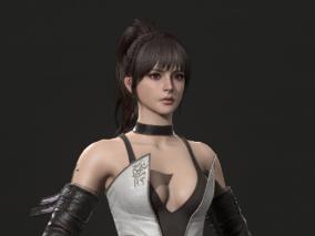 《Sword girl》A战设计师:Ed Pantera 次时代 写实 CG雕刻