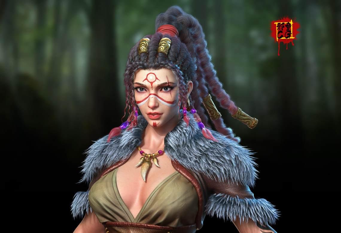 部落女战士 ——邪童君