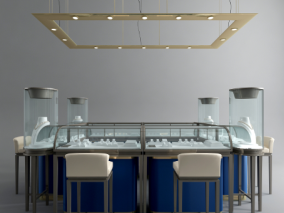 现代珠宝柜子 展示模型