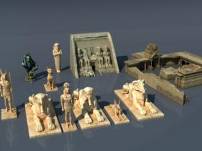 文物雕塑max模型