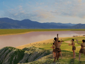 古代原始人场景max模型