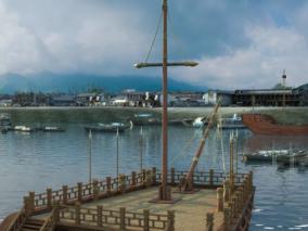 古代码头船只max模型