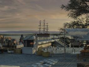 码头cg模型