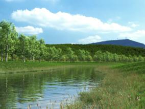 河道cg模型
