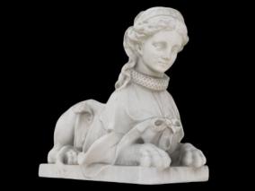 狮子身女雕像max模型