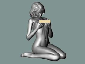 性感女孩雕塑3D模型
