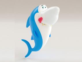 卡通鱼3D模型