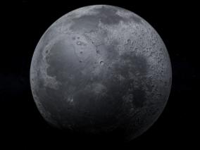 月亮3d模型