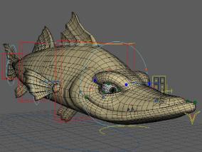 卡通鱼cg模型