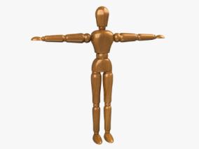 木头人3d模型