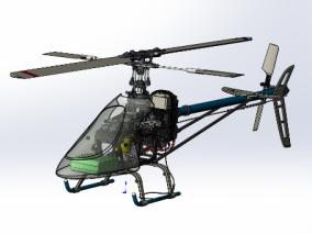 玩具直升机3D模型
