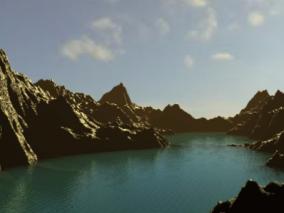 山河自然景观3D模型