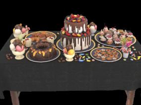 蛋糕cg模型
