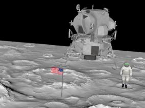 登月宇航员3D模型
