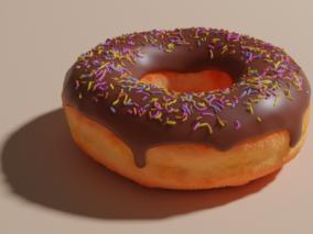 甜甜圈cg模型