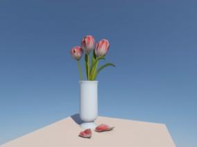 郁金香3d模型