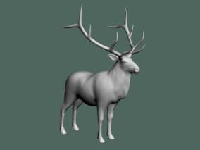麋鹿3D模型