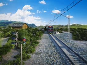 火车铁轨铁道 3d模型