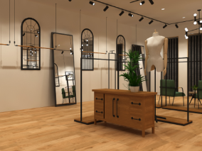 时装店服装店3d场景模型