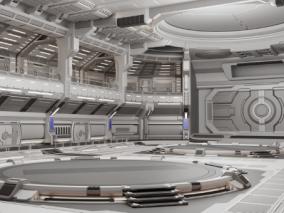 科幻场景太空空间3d模型