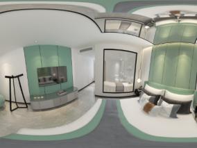 现代房全景卧室3d模型