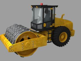 压路机工程车max模型