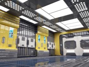 科幻室内场景max模型