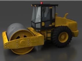 工程车压路机3d模型