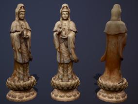 雕像佛像max模型