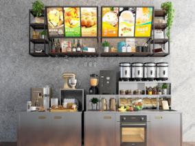 奶茶店cg模型